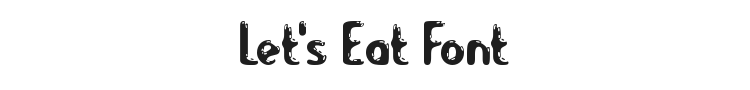 Let's Eat Font Preview