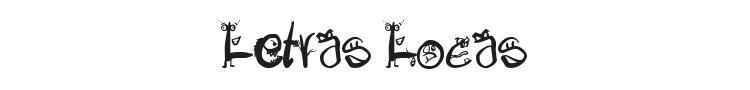 Letras Locas Font Preview