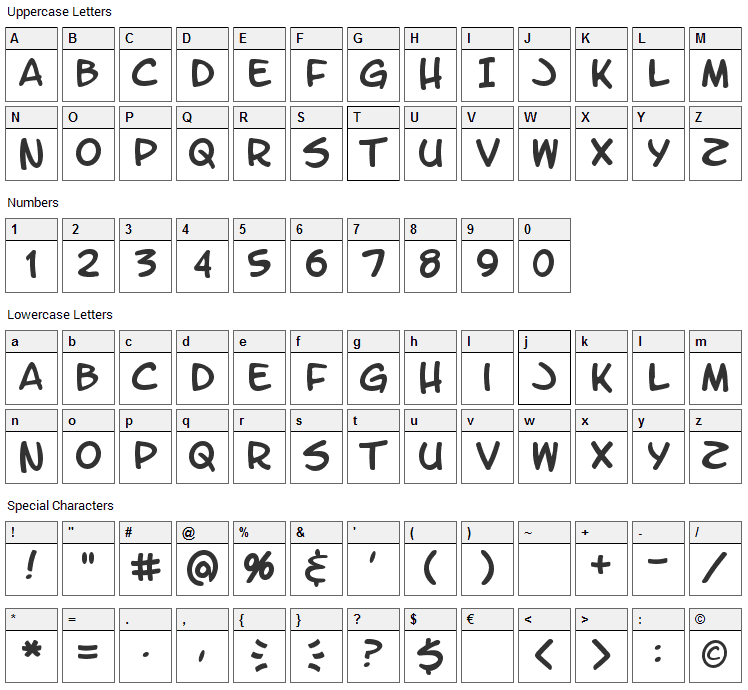 Letter O Matic Font Character Map