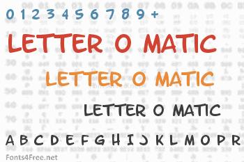 Letter O Matic Font