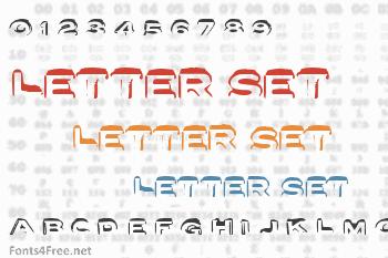 Letter Set Font