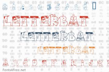 Letterbat Friends Font