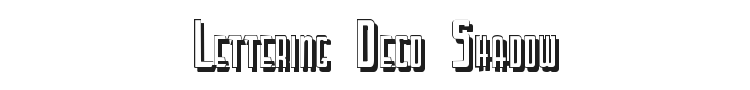 Lettering Deco Shadow Font Preview
