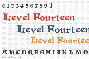 Level Fourteen Druid Font