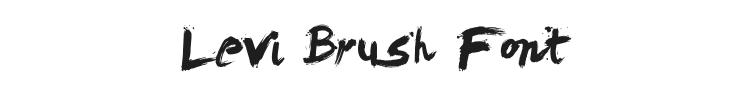 Levi Brush Font Preview