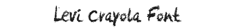 Levi Crayola Font Preview
