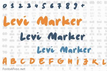 Levi Marker Font