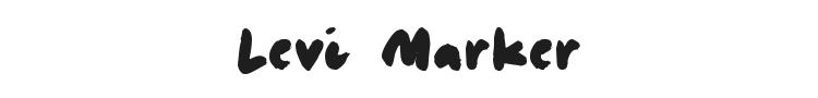 Levi Marker Font Preview