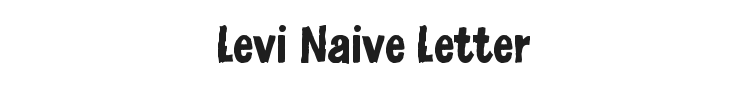 Levi Naive Letter Font Preview