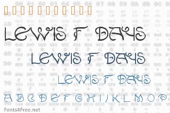 Lewis F. Days 191 Font