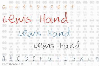 Lewis Hand Font