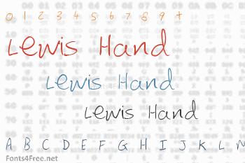 Lewis Hand Font