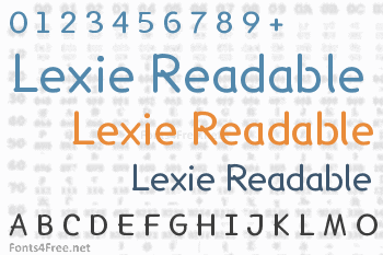 Lexie Readable Font