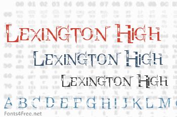 Lexington High Font