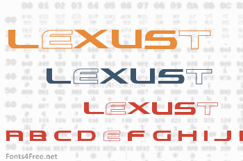 Lexust Font