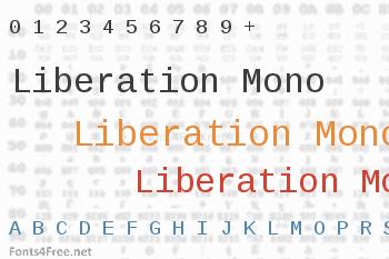 Liberation Mono Font