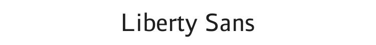 Liberty Sans Font Preview