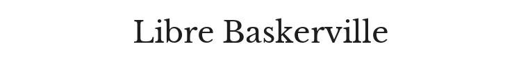 Libre Baskerville Font Preview