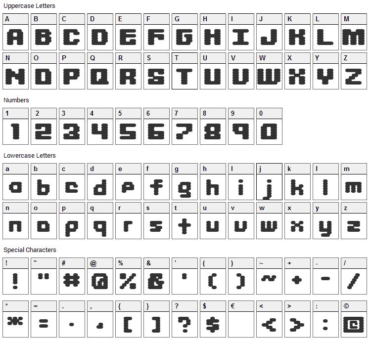 Libritabs Font Character Map