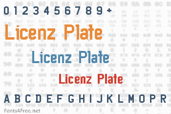 Licenz Plate Font