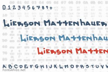 Lierson Mattenhauer Font