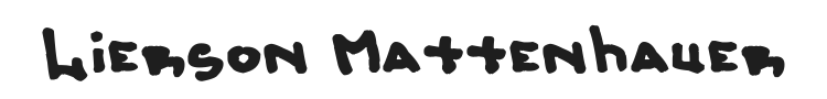 Lierson Mattenhauer Font Preview
