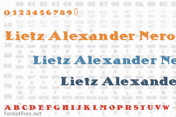 Lietz Alexander Nero Font