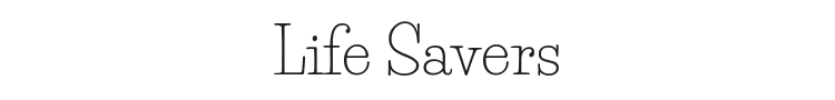 Life Savers Font Preview