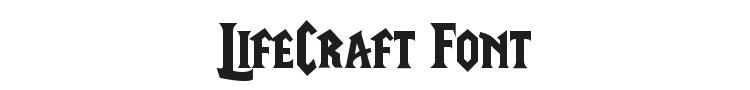 LifeCraft Font Preview