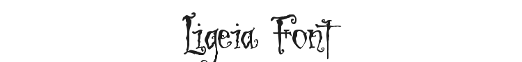 Ligeia Font Preview