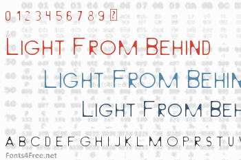 Light From Behind Font