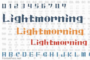 Lightmorning Font