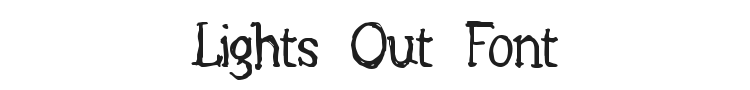 Lights Out Font Preview