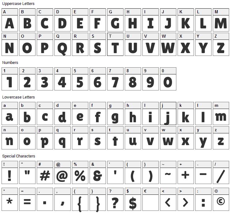 Lilita One Font Character Map