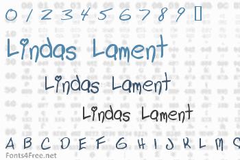 Lindas Lament Font