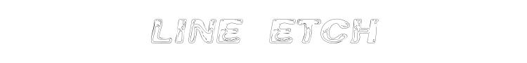 Line Etch Font
