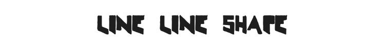Line Line Shape Font Preview