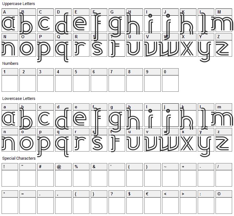 Linea Font Character Map