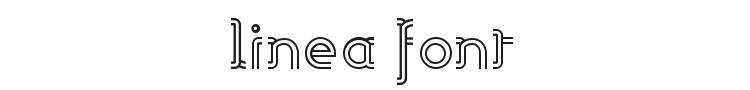 Linea Font Preview