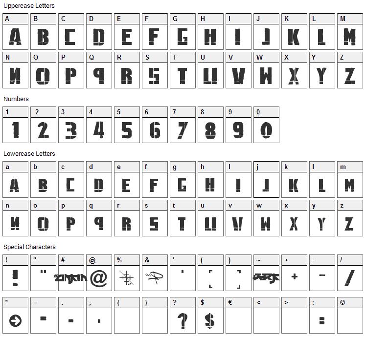 Linkin Park Font Character Map