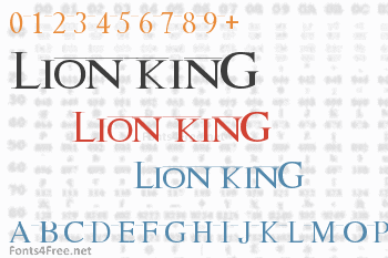 Lion King Font Download Fonts4free