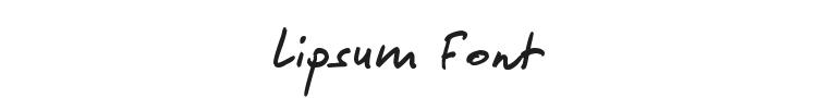 Lipsum Font