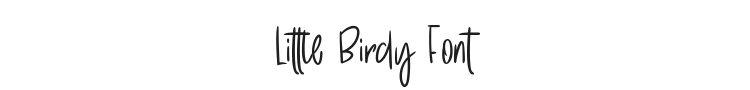 Little Birdy Font Preview