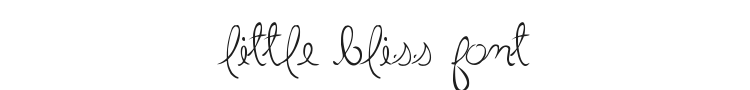 Little Bliss Font Preview