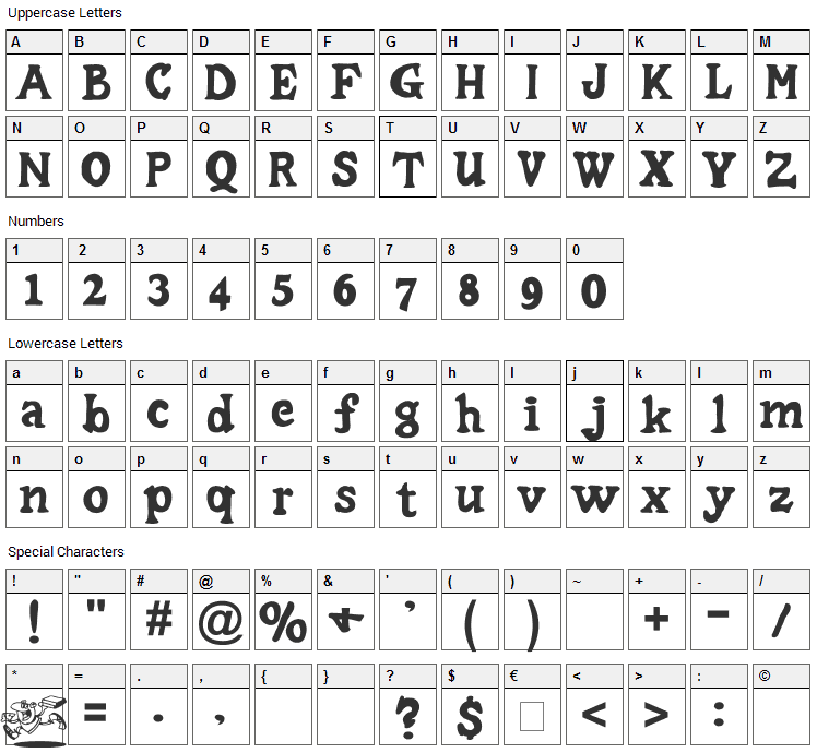 Little Caesar Font Character Map