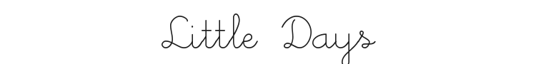 Little Days Font Preview