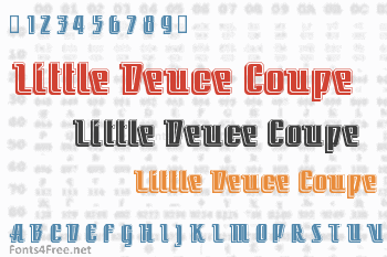 Little Deuce Coupe Font