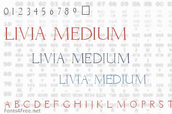 Livia Medium Font