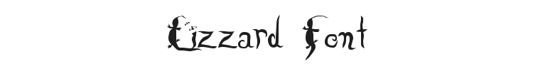Lizzard Font Preview