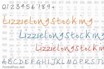 Lizzielongstocking Font